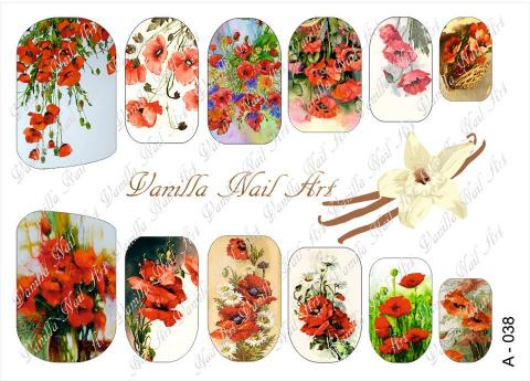 Slaider Vanilla Nail Art 038