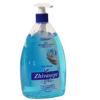 ZHIVASEPT GEL  250mL. Antibacterial rinse-free hand sanitizer